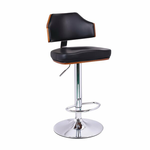 Adjustable Height Swivel Bar Stool by Adeco Trading