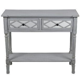 Tymir 2 Drawer Mirror Console Table