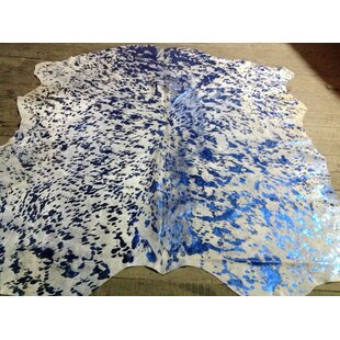 Vibrant Hand-Woven Blue/White Area Rug ByRug Factory Plus