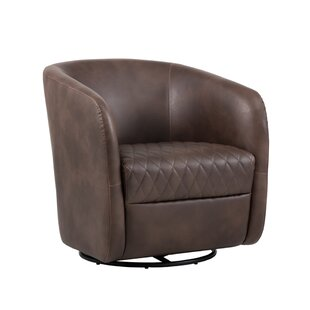 5west Dax Swivel Barrel Chair by Sunpan Modern