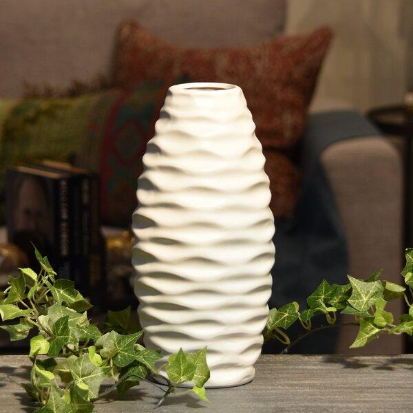 Embossed Wave Table Vase by Langley Street