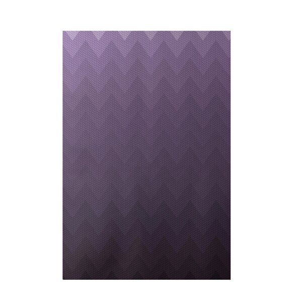 Chevron Purple Indoor/Outdoor Area Rug by e by design