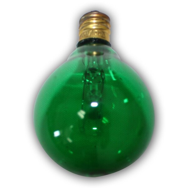 5W Green E12 Incandescent Vintage Filament Light Bulb by Aspen Brands