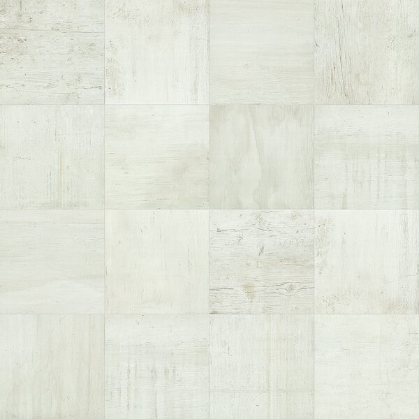 Reunion 24 x 24 Porcelain Wood Look Tile in Cotton by PIXL