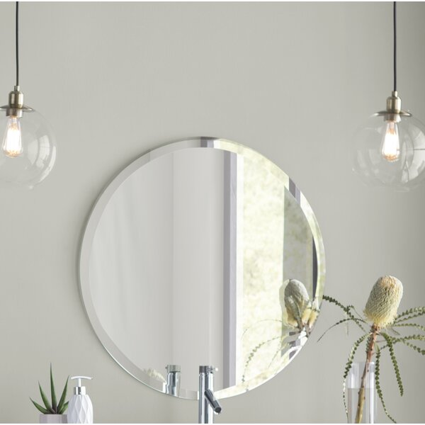 Greyson Frameless Round Wall Mirror by Langley Str