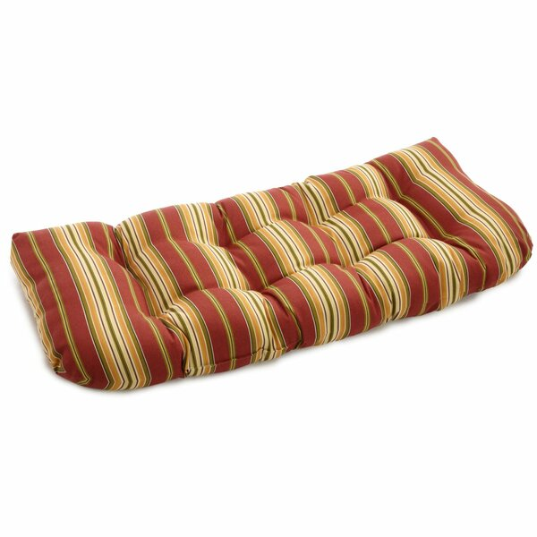 Stripe Indoor/Outdoor Bench Cushion by Charlton Home