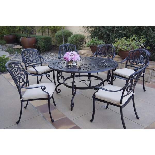 Burchett 7 Piece Dining Set with Cushions by Canora Grey