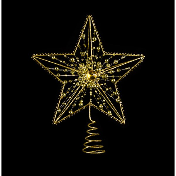 Metal Jeweled Star Tree Topper (Set of 2) by The Holiday Aisle