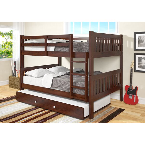 Hargrave Full over Full Bunk Bed with Trundle by Harriet Bee