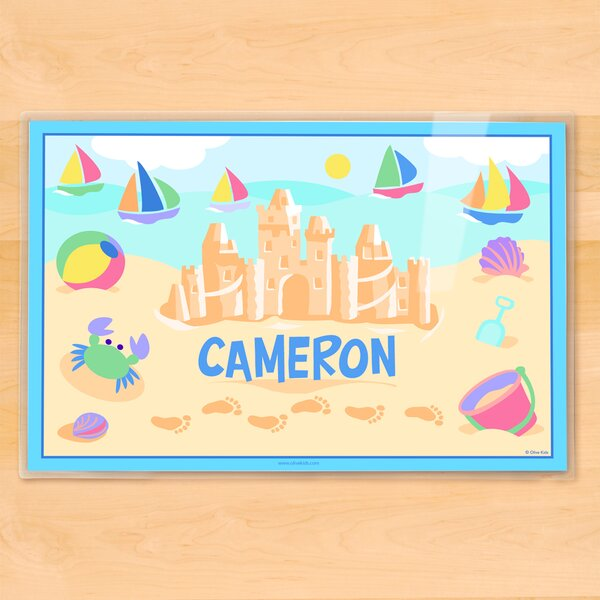 Summer Sandcastle Boys Personalized Placemat by Olive Kids