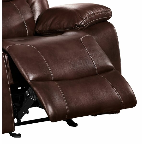 Leatherette Upholstered Manual Motion Glider Recliner W002378133