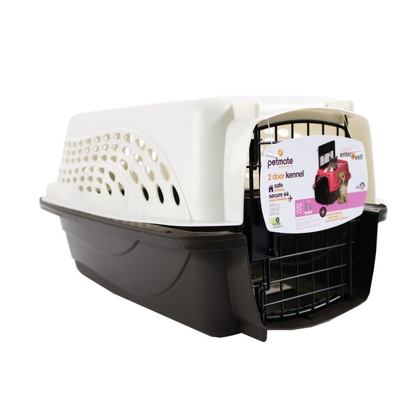 2 Door Top Load Hard-Sided Pet Carrier by Petmate