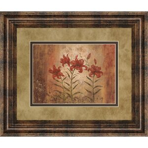 The Lily Style by Vivian Flasch Framed Painting Print by Classy Art Wholesalers