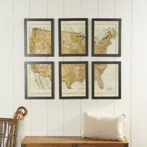 Vintage USA Map Wall Art by Birch Lane™