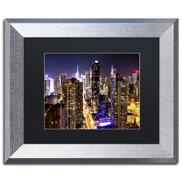 Lights Manhattan by Philippe Hugonnard Framed Photographic Print by Trademark Fine Art