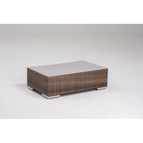Arzo Glass Coffee Table by Tropitone