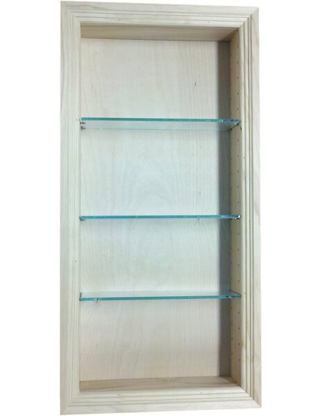 Newberry 14 W x 31.5 H Recessed Shelving by WG Wood Products