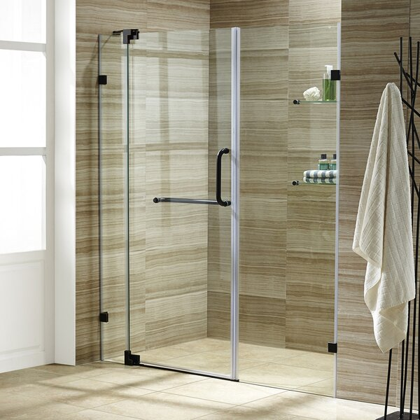 Pirouette 34.75 x 72 Pivot Frameless Shower Door by VIGO