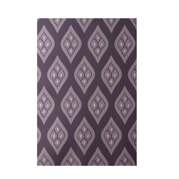 Floral Purple Indoor/Outdoor Area Rug by e by design