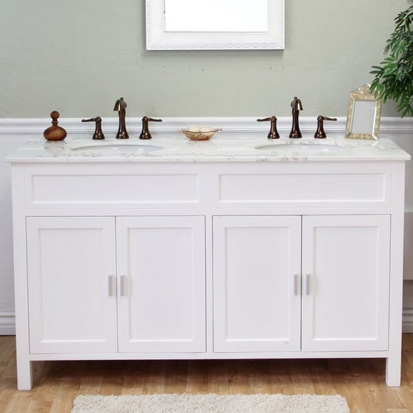 Jameson 60 Double Bathroom Vanity Set by Bellaterra Home