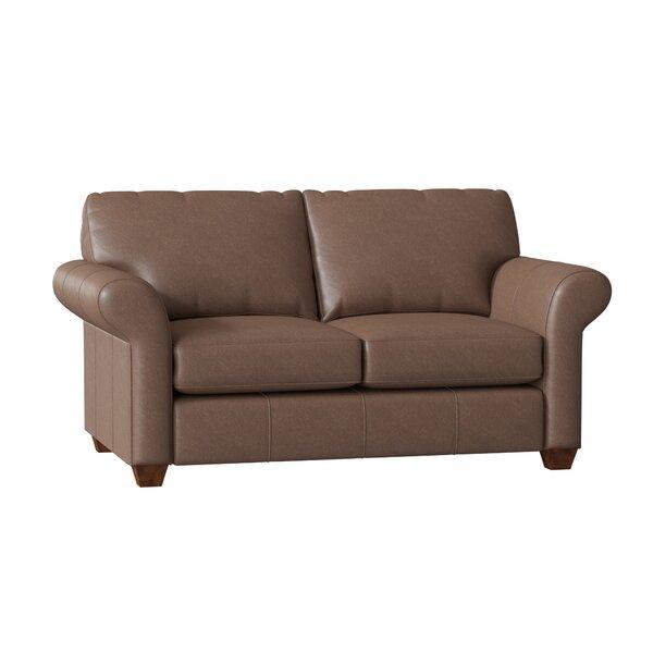 Tianna Leather Loveseat By Wayfair Custom Upholstery™