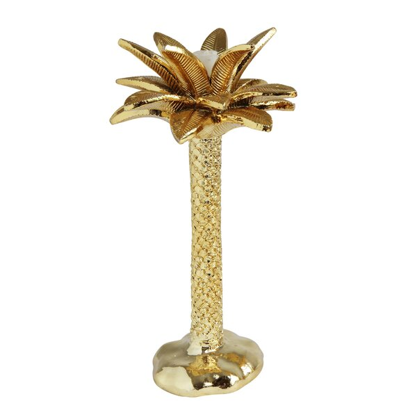Palm Tree Taper Resin Candlestick by Bay Isle Home