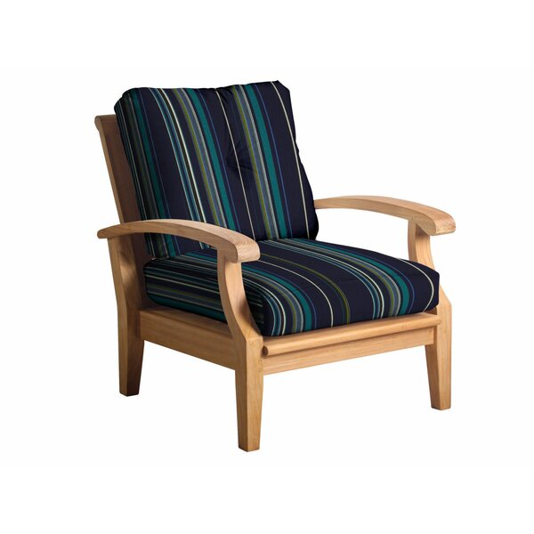 Lowery Teak Patio Chair with Sunbrella Cushions by Rosecliff Heights Rosecliff Heights
