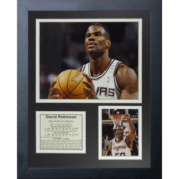 David Robinson - Free Throw Framed Memorabilia by Legends Never Die