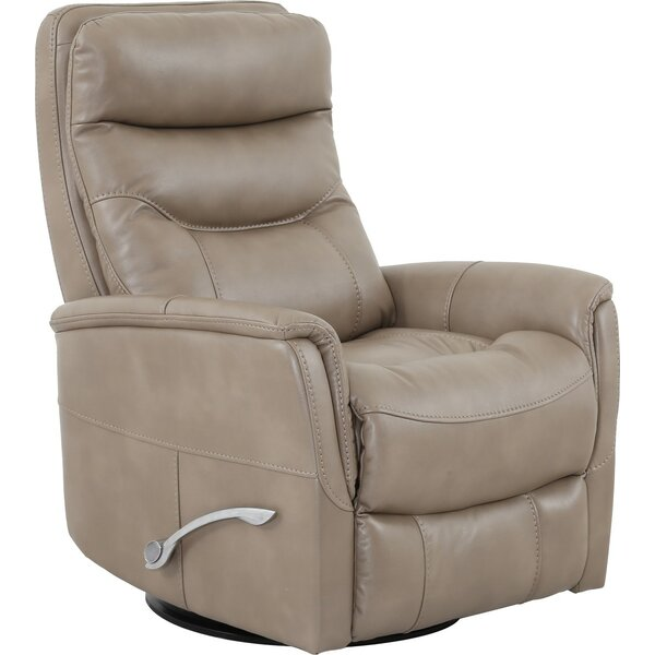 Cecilwood I-Comfy Manual Swivel Recliner With Ottoman By Loon Peak
