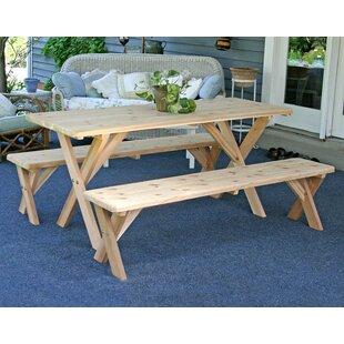 Cedar 3 Piece Dining Set