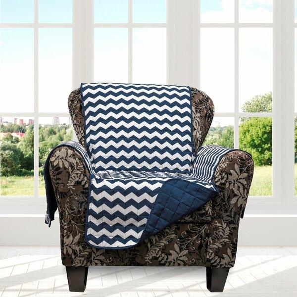Chevron Box Cushion Armchair Slipcover By Ebern Designs