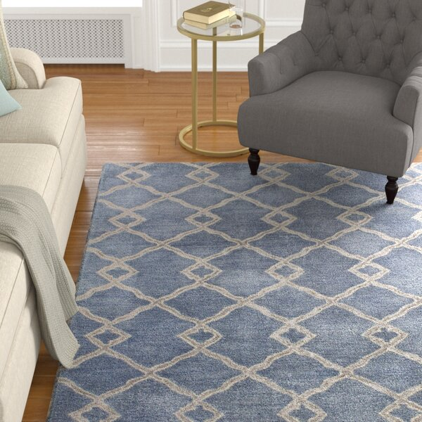 Hirsch Hand-Tufted Denim Area Rug by Alcott Hill