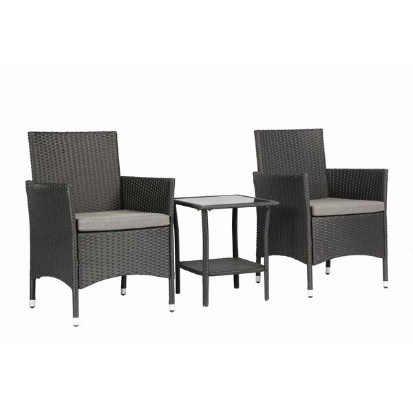Bridgette Outdoor Complete 3 Piece 2 Person Seating Group by Andover Mills