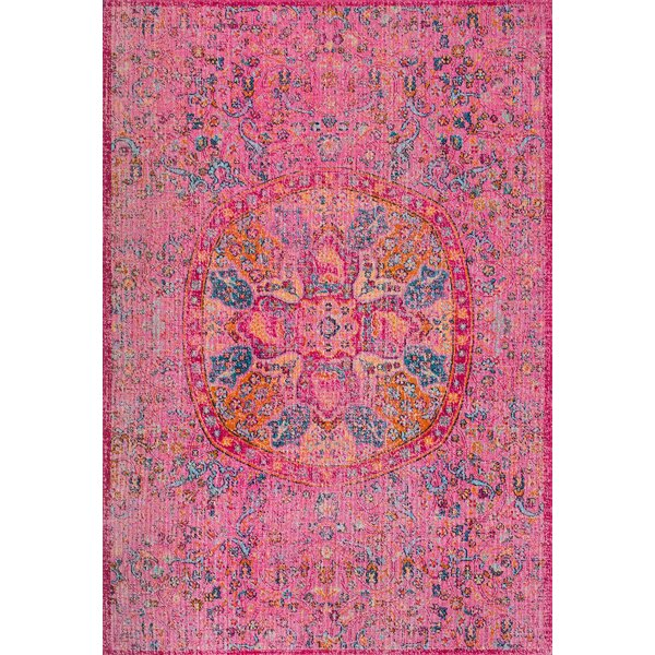 Nickolas Pink Area Rug by Bungalow Rose