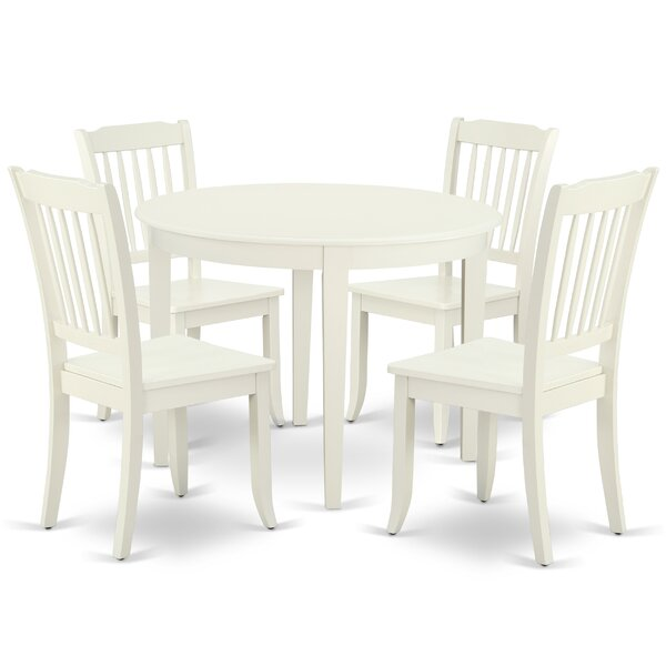Lacoste 5 Piece Solid Wood Breakfast Nook Dining Set by August Grove August Grove