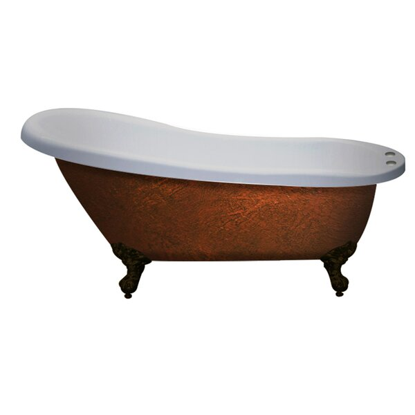 67 x 28 Clawfoot Soaking Bathtub by Cambridge Plumbing