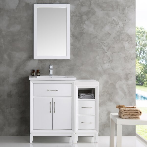 Cambridge 36 Single Traditional Bathroom Vanity Set with Mirror by Fresca