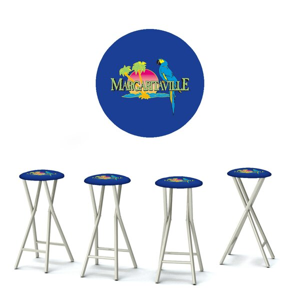 Margaritaville 30'' Patio Bar Stool with Cushion (Set of 4) by Best of Times