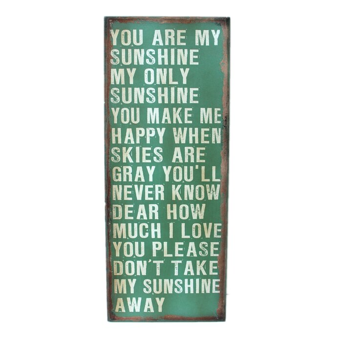 U0027You Are My Sunshineu0027 Wood Wall Décor