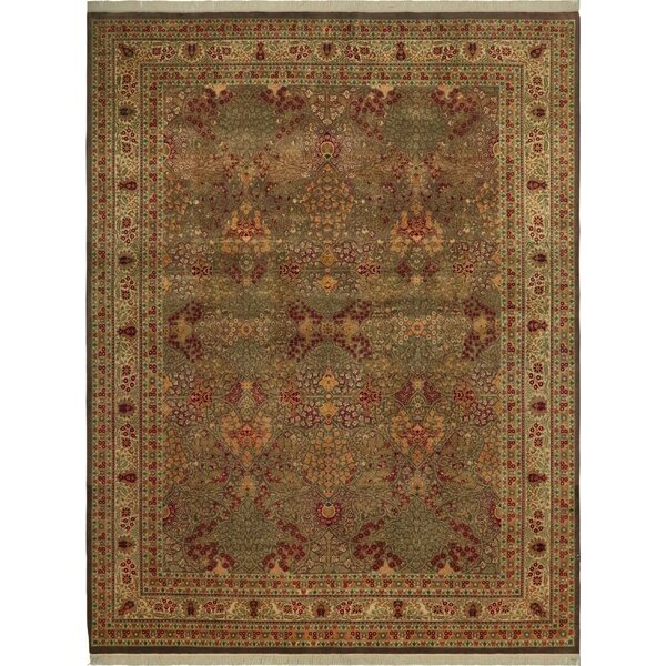 One-of-a-Kind Aaru Hand-Knotted Wool Brown/Ivory Area Rug by Isabelline