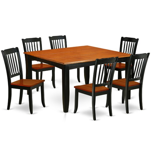 Krumm 7 Piece Extendable Solid Wood Dining Set by August Grove