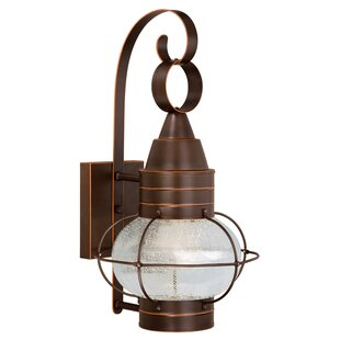 Affordable Sanibel 1-Light Outdoor Wall Lantern By Breakwater Bay