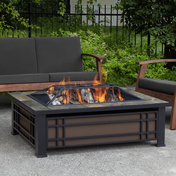 Hamilton Steel Wood Burning Fire Pit table by Real Flame