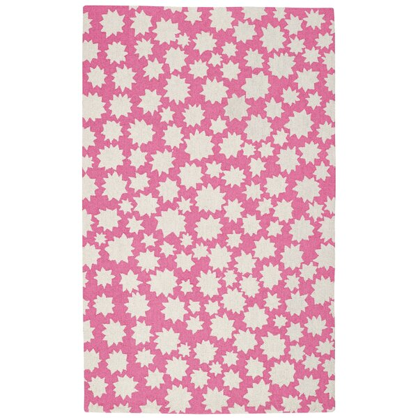 Ezequiel Pink/White Area Rug by Harriet Bee