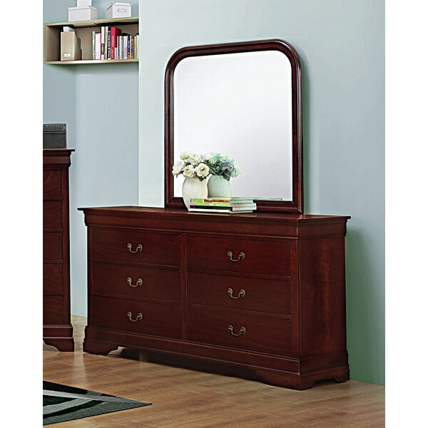 Melby 6 Drawer Dresser with Mirror by Canora Grey