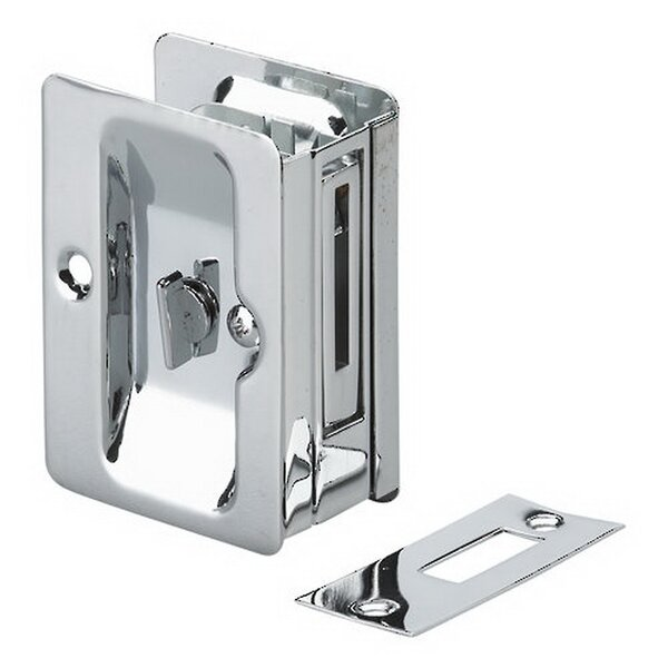 Rectangular Pocket Door Pull with Privacy Lock by Richelieu