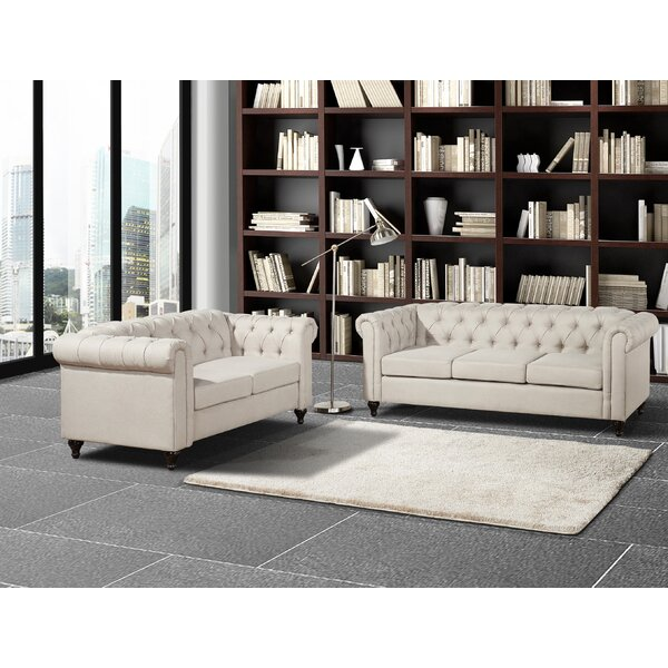 Morehouse Chesterfield 2 Piece Living Room Set by House of Hampton