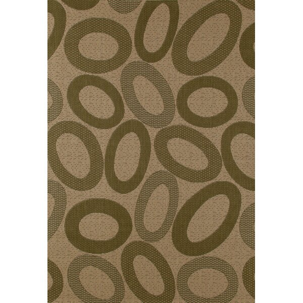 Lusk Green/Cream Indoor/Outdoor Area Rug by Ebern Designs