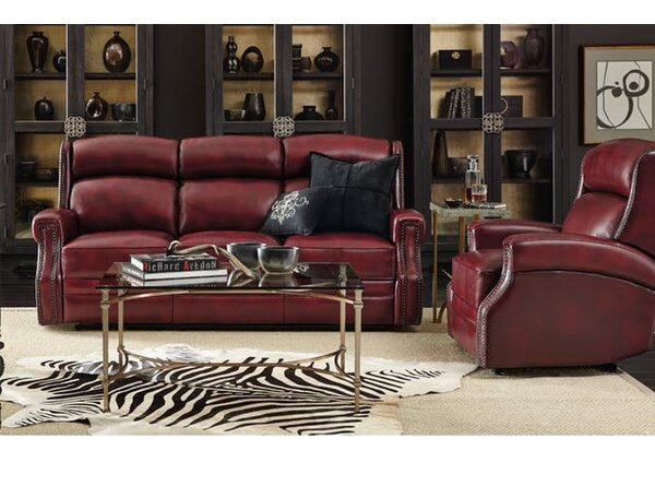 Skakli Reclining Leather Configurable Living Room Set By Winston Porter