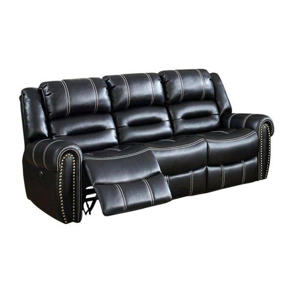 Ganey Leatherette Recliner Sofa by Red Barrel Studio